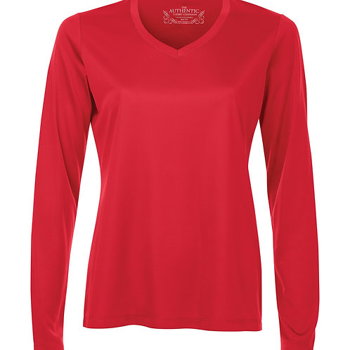ATC Pro Team V-Neck Long Sleeve Ladies Tee -red