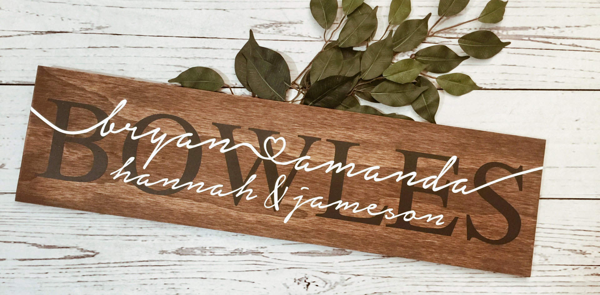 Family Name Sign.