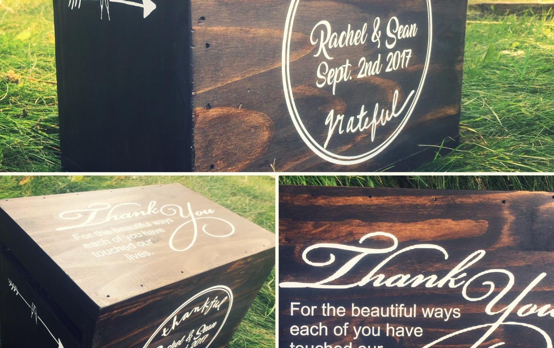 Personalized Wedding Card Box.