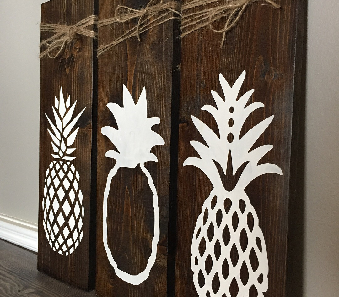3 Leaning Pineapples.
