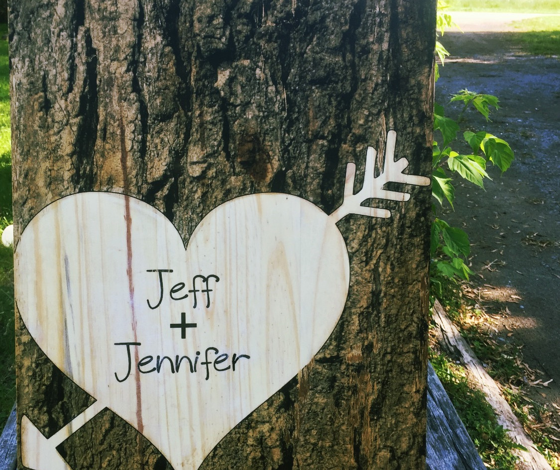 Tree Trunk Heart With Names.