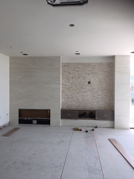 Fireplace and floor