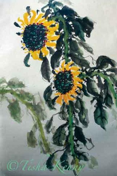 Sunflower & Leaves V