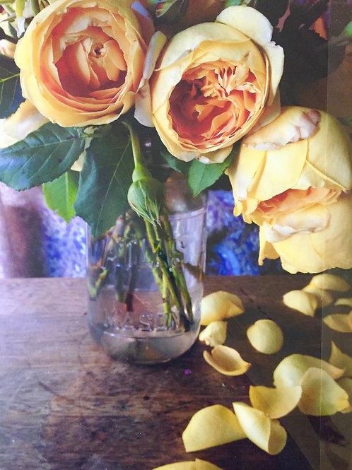 Yellow Roses in Jar