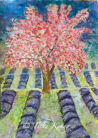 Tisha Kenny_Blossoming-Tree-in-Lavender-