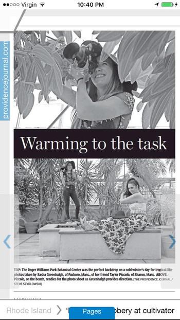 """""""Warming To The Task"""" Providence Journal"""