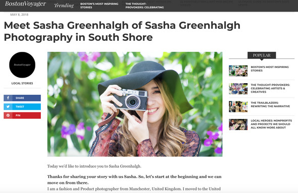 """Meet Sasha Greenhalgh"" Boston Voyager"