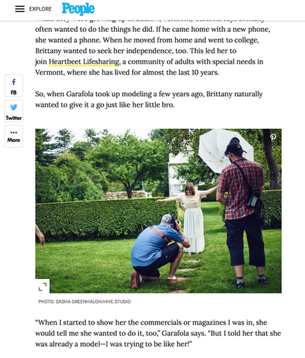 """""""Model Throws Surprise Birthday Photo Shoot for His Sister with Down Syndrome"""" People Magazine"""