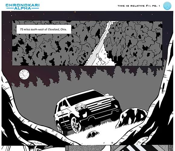 Chronokari Alpha: TIme is Relative web comic (Issue #1, Page). 1