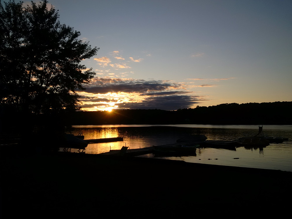 Sunset at the Bonnie View Inn during my writing retreat.