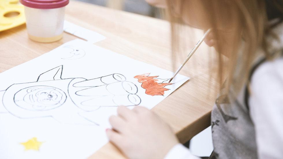 Watercolor Fun and Art History/Storytelling K-2 (10:00)