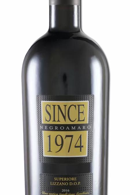 Since 1974 Negroamaro Superiore Lizzano DOP