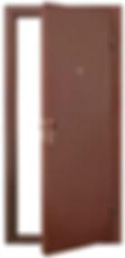 Дверь металлическая для входа в гараж из сэндаич-панелей.jpg