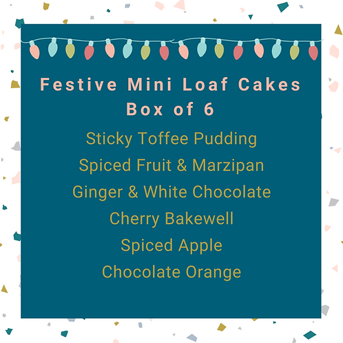 Festive Mini Loaf Cake Selection Box