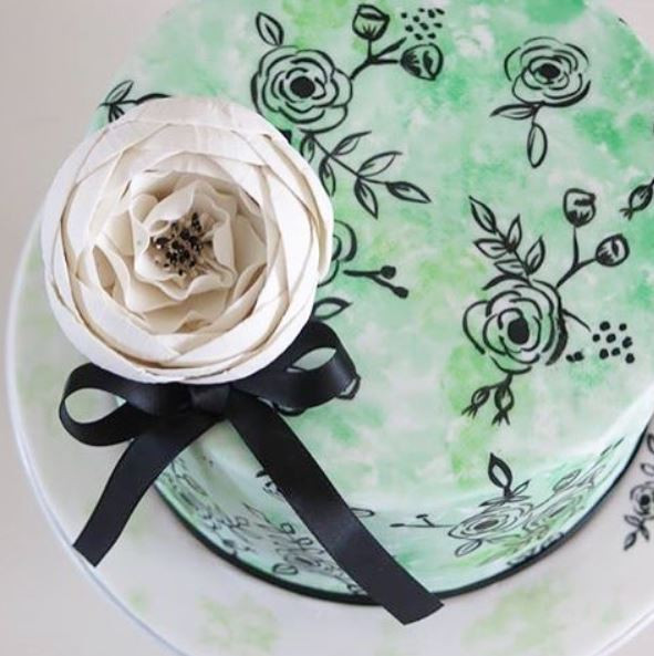 Gorgeous wedding painted cakes in norwich