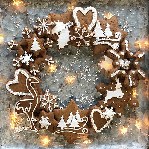 Bake At Home Gingerbread Wreath Kit