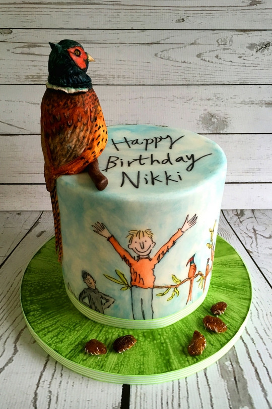 Danny Champion of the World Painted Birthday Cake in Norwich Sugar Buttons Creative