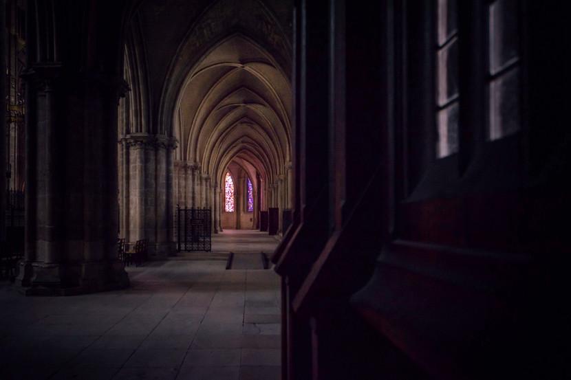 Instant de paix à la Cathédrale Saint-Etienne, Bourges.