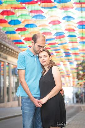 Couple sous les parapluies - Bourges
