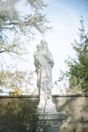 Vierge à l'enfant, Jardin du Sacré-Coeur, Bourges