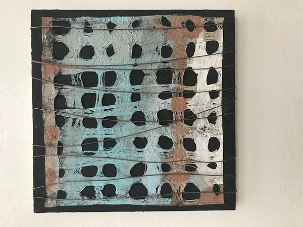 Abstract Zen Mixed Media Painting