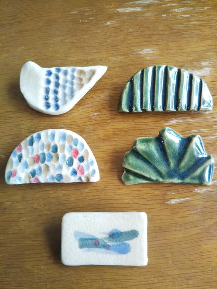 陶器 陶 ceramic craft 陶芸 帯留め ブローチ