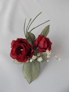 花 アートフラワー art flower 染色 バラ かすみそう