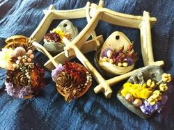 陶器 陶 ceramic craft 陶芸 ペンダント ブローチ ドライ