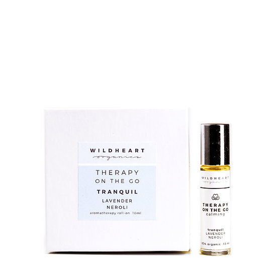 Aromaterapia roll on tascabile di Wildeheart Organics, Tranquil lavanda e neroli