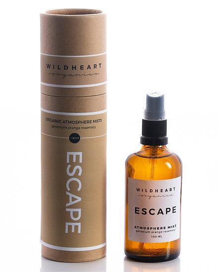Bruma profumata aromaterapica di Wildheart Organics, ricca di oli essenziali puri di geranio, arancia e rosmarino.
