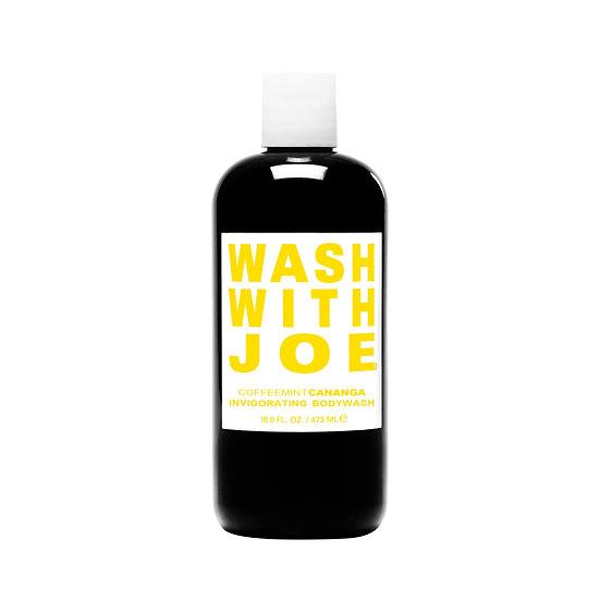 Wash With Joe Cananga l'inimitabile body wash con vero infuso di puro Caffè Arabica, menta piperita e ylang-ylang
