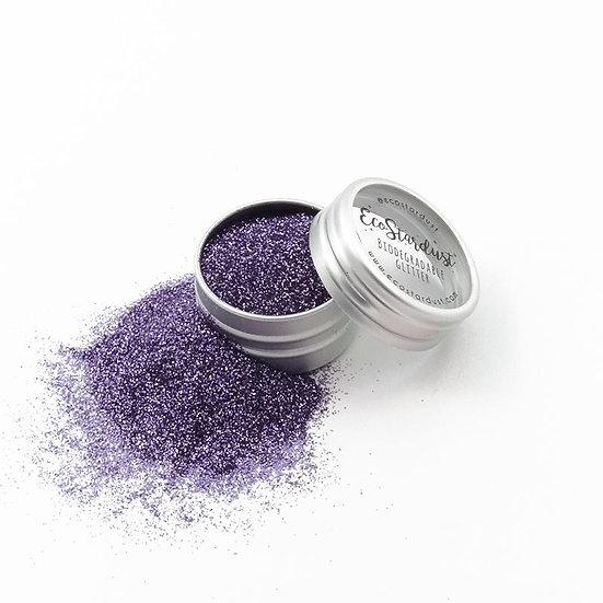 Glitter biodegradabili di Ecostardust Viola Ametista a grana fine