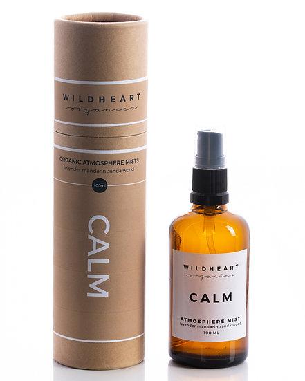 Bruma profumata aromaterapica Calm di WIldheart Organics è riccodi oliessenziali puri di lavanda, mandarinoe sandalo.
