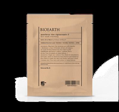 Maschera Viso rigenerante Bioearth, maschera in tessuto imbevuta di un ricco siero rigenerante