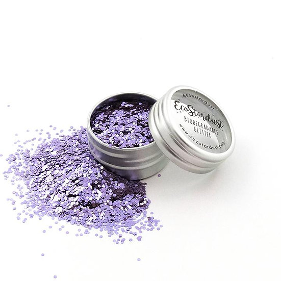 Glitter biodegradabili di Ecostardust color Viola Ametista a grana spessa