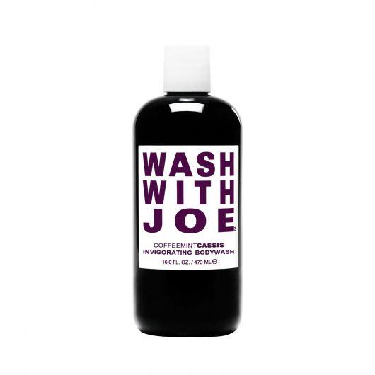 Wash With Joe Cassis l'inimitabile body wash con vero infuso di puro Caffè Arabica, menta piperita e ribes nero
