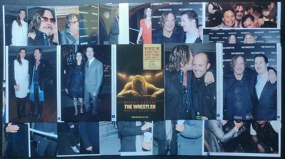 The Wrestler (2008) Various Film Premiere/Event Press Photos x23 - Mickey Rourke