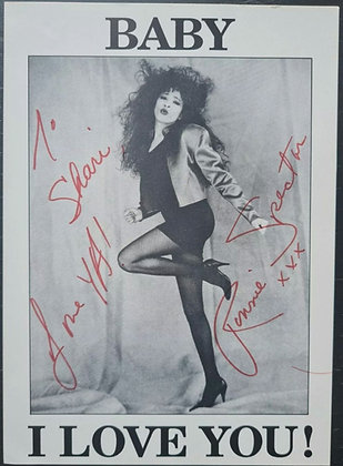 Ronnie Spector Signed Promo Card - The Ronnettes - Baby I Love You