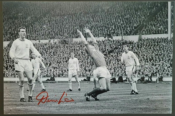 Denis Law Signed Photo with COA - 1963 FA Cup Final, Wembley - Man Utd