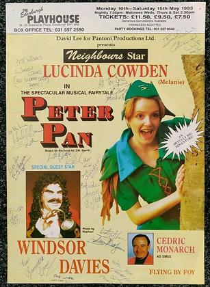 Peter Pan Musical Signed Mini-Poster Edinburgh Playhouse 1993