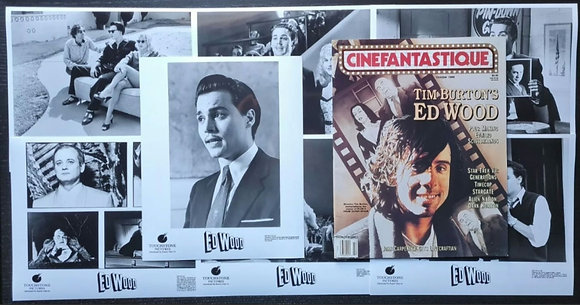 Ed Wood (1994) Press Promo Photos (x7) + Cinefantastique Magazine - Tim Burton