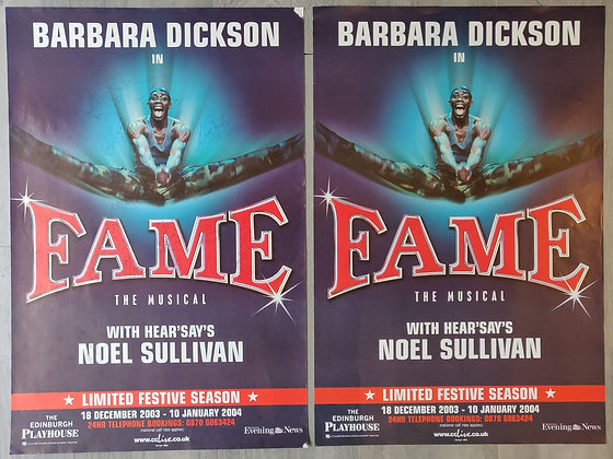 Fame The Musical Signed Poster from Edinburgh Playhouse 2003/04 + Poster