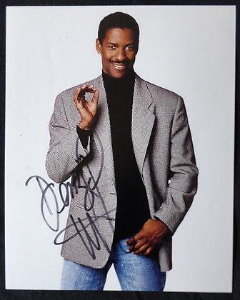 Denzel Washington Signed Photo