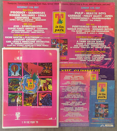 T In The Park 1998 Poster, Programme, Flyer & Ticket