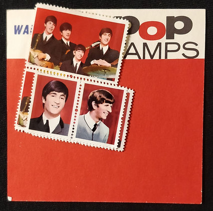 The Beatles Pop Stamps by Waddington's *Stamps Are Stuck Together*