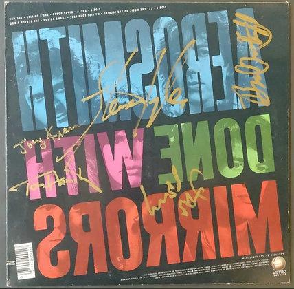 "Aerosmith Fully Signed Vinyl LP - ""Done With Mirrors"" - Steven Tyler, Joe Perry"