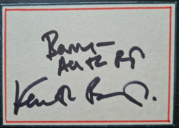Kenneth Branagh Signed Index Card - Hamlet, Much Ado About Nothing, Dunkirk