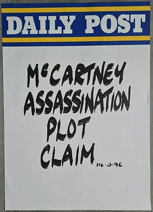 Daily Post Headline/Billboard Poster - Feb 1996 - Paul McCartney, Beatles