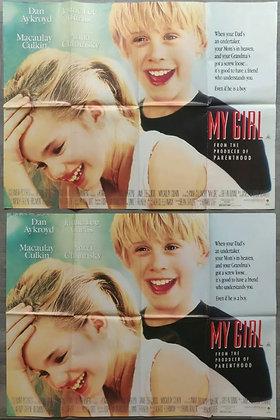 My Girl (1991) UK Quad Posters (X2) - Macaulay Culkin, Anna Chlumsky