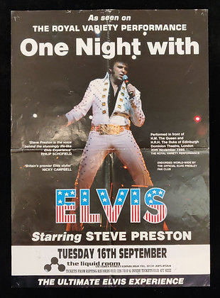 One Night with Elvis Poster